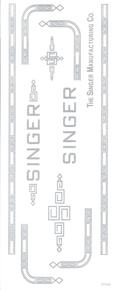 Singer 201 Sewing Machine Waterslide Restoration Decals Silver