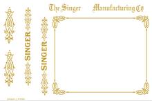 Singer 24-66 Restoration Decals