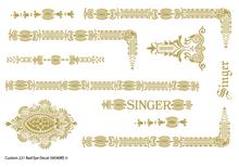 Custom Singer 221 Restoration Decals