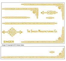 Singer 221 Featherweight AD Series Restoration  Decals
