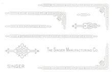 Singer 221 Featherweight Decals for  Restorations Celtic Chain Design Silver