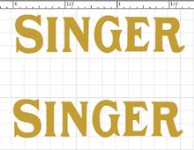 Singer 20 Toy Sewing Machine Restoration Waterslide Decals Post 1950  SingerDecals.com