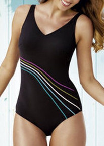 AN6303 Bilbao Black One Piece Mastectomy Swim Suit by Anita
