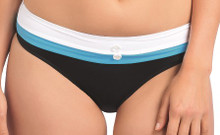 AS3223 Black Hipster Brief Swim Bottoms