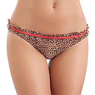 BT976153 Sweet Seduction Leopard/Black Thong Pantie by b.tempt'd