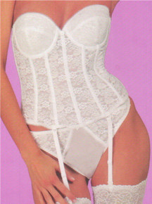 DM7749 White Underwire Midline Bustier by Dominique