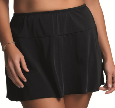ES7601 Isis Black Flared Skirted Swim Brief by Elomi