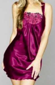 JS11241 Fuchsia  Embroidered Chemise