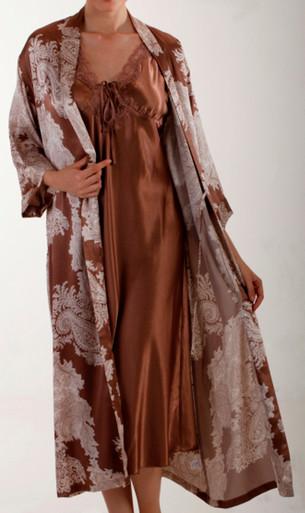 MI30585 Raeanna Mocha Long Gown