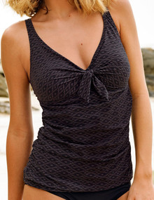 AN8808 Kera Black-Brown Tankini Swim Top by Anita