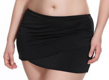 ES7619 Black Wrap Skirted Swim Brief by Elomi
