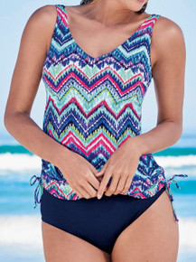 AN8452 Illy Chevron Tie Dye Tankini Set by Anita