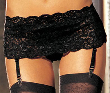 SHX20146 Garter Belt by Shirley of Hollywood - Black