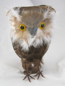 ARTIFICIAL BIRD, Owl, MEDIUM GRAY, 6.5 inch, per EACH