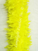 Yellow Feather Boa heavy weight chandelle