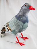 Pigeon Decorative Artificial Bird, GRAY, 13 inch, per EACH