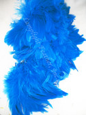 ROOSTER FEATHER SCHLAPPEN,  TURQUOISE, 3-5 inch, per FOOT