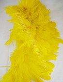 ROOSTER FEATHER SCHLAPPEN,  YELLOW, 3-5 inch, per FOOT