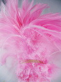 ROOSTER SADDLE Feathers, strung, long, CANDY PINK, per foot