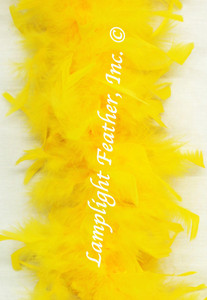 Gold Feather Boa Chandelle 40 gram per Each