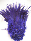 ROOSTER SADDLE Feathers, strung, Purple, per foot