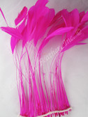 STRIPPED COQUE Feathers, FUCHSIA