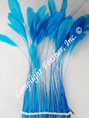 STRIPPED COQUE Feathers, TURQUOISE