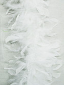 CHANDELLE FEATHER Boa, WHITE 40 gram  per each