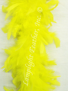 Yellow Feather Boa Chandelle 40 gram per Each
