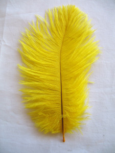 OSTRICH Feathers, MINI, YELLOW,