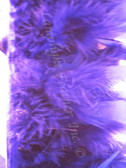 Purple Feather Trim Chandelle Premium per yard