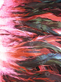 COQUE FEATHERS half bronze 7-10 inch,  HOT PINK, per YARD