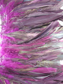 COQUE FEATHERS half bronze 7-10 inch,  PURPLE, per YARD
