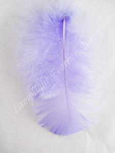 Turkey Plumage Craft Feathers, Lavender, per 1 oz. bag