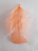 Peach Craft Feathers Turkey Plumage per ounce package