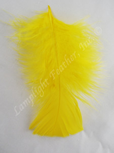 Turkey Plumage Craft Feathers, Yellow, per 1 oz. bag