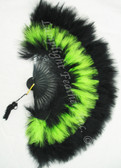 Feather Fan Marabou Lime and Black