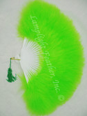 Feather Fan Marabou lime