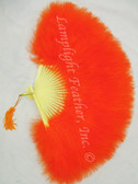 Feather Fan Marabou Orange