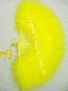 Feather Fan Marabou Yellow