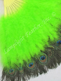 Feather Fan, Peacock deluxe, lime per each