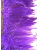 Feather Trim, HACKLE, Purple, 3-5 inch, per yard