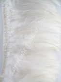 Feather Trim, HACKLE, WHITE, per yard