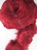 GOOSE COQUILLES, dyed Maroon, per foot