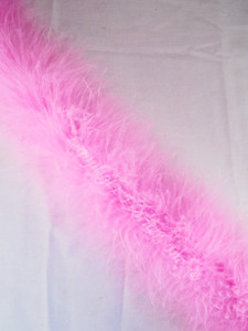 MARABOU FEATHER BOAS, 15 gram, CANDY PINK per each