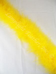 MARABOU FEATHER BOAS, 15 gram, GOLD per each