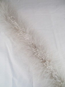 Gray Feather Boa Marabou 15 gram per Two