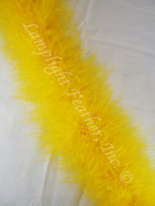 Gold Feather Boa Marabou 20 gram per Two