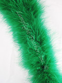 MARABOU FEATHER BOAS, 20 gram, GREEN per each