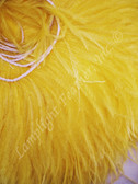 OSTRICH FEATHER FRINGE,  Premium, GOLD, per foot